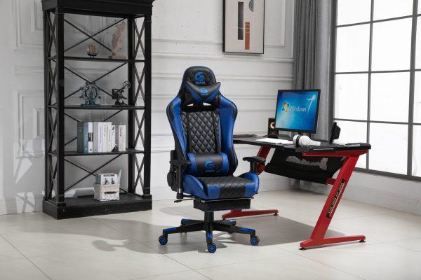Scaun Gaming V5020 Negru/Albastru