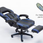 Scaun Gaming V6 Negru/Albastru