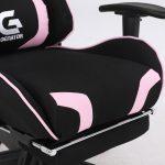 Scaun Gaming Genator V2 Negru/Roz