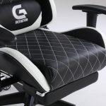 Scaun Gaming Genator V1 Negru/Alb