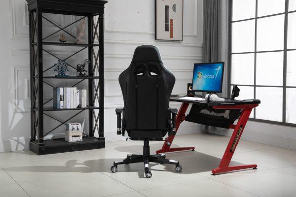 Scaun Gaming V5020 Negru/Alb