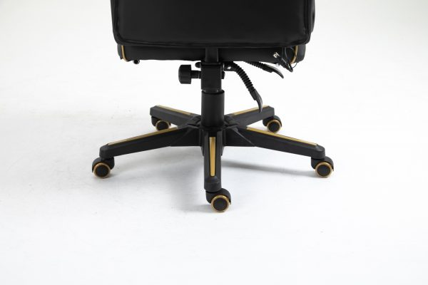 Scaun Gaming V6 Negru/Auriu