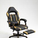 Scaun Gaming Genator V6 Negru/Auriu