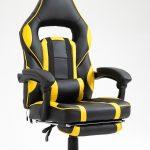 Scaun Gaming V6 Negru/Galben