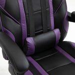 Scaun Gaming V6 Negru/Mov