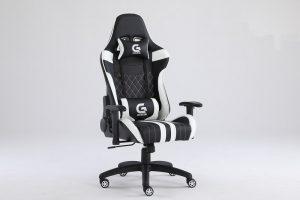 Scaun Gaming Genator V3, Negru/Alb